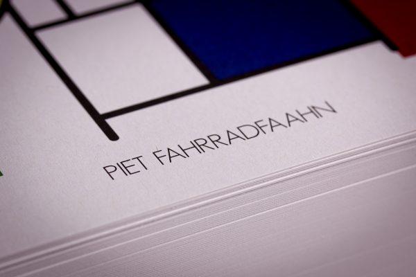 Arthurkopf Postkarte Fahrrad Piet Mondrian